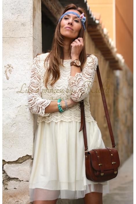 VANILLA OFF WHITE DRESS