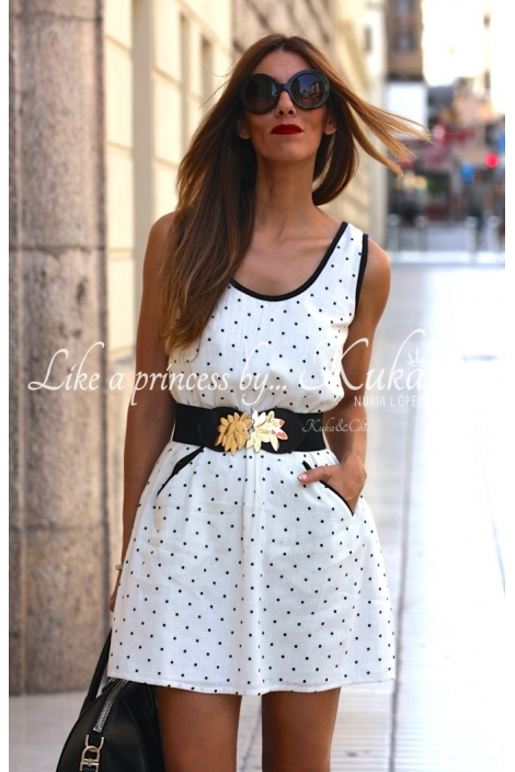 VESTIDO TOPITOS OFF WHITE