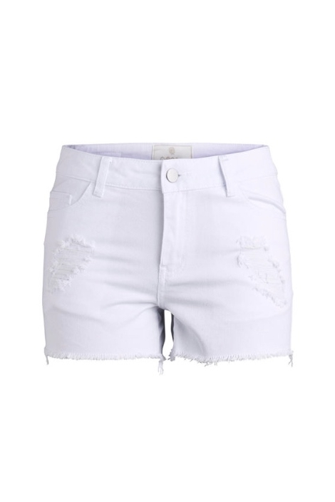 SHORTS DENIM WHITE