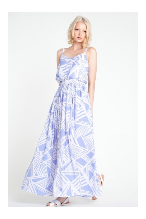 GRAPHIC PRINT MAXI DRESS