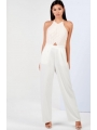 CREAM BACKLESS JUMPSUIT
