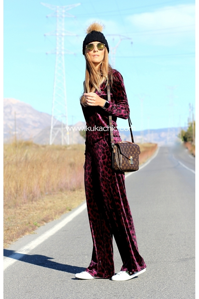 PANTALON PURPLE ANIMAL PRINT