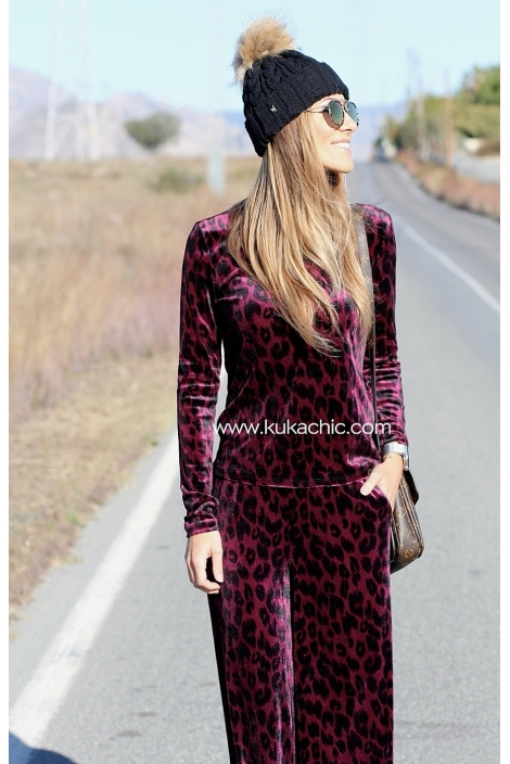 CAMISA PURPLE ANIMAL PRINT