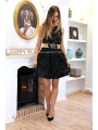 BLACK FLOWERS PARTY DRESS