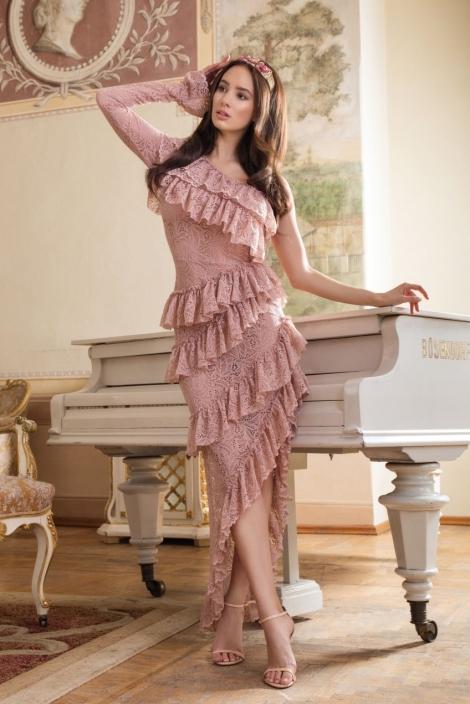 ASSYMETRICAL LACE DRESS