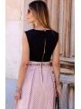 BLACK & PINK MEDI DRESS