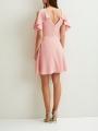 SHOULDER SHORT DRESS