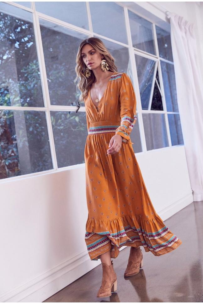 SUNGLOW PRINT ELEONORE DRESS