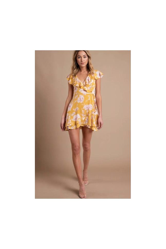 FRENCH YELLOW DRESS