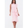 EXTREM PEPLUM PINK DRESS
