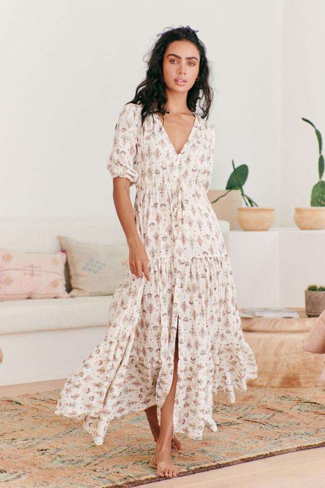 TESSA MAXI DRESS CLEOPATRA PRINT